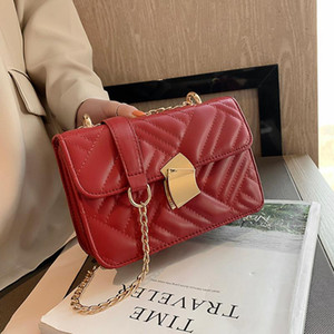 Small Chain PU Leather Crossbody Bags for Women 2021 Trending Quilted Designer Handbags Trend Luxury Lock Hand Bag