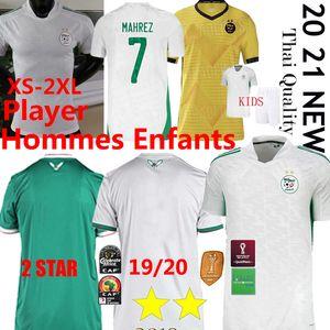 Algerie Player Soccer Jerseys 2020 21 HOME Fans maillot de football shirt MAHREZ BRAHIMI BENNACER 19 20 2 Star Algeria men kids kits Uniform