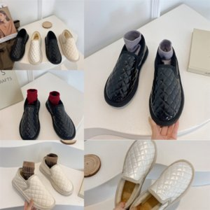 8H7TA Cuero de cueroBotes Botas para mujer al aire libre Laureate Love Womens Negro Real Snow Boots Top Medal Zapatos gruesos Invierno antideslizante