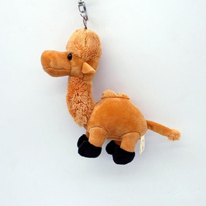 Cute Soft Camel Llama Key Chain Funny Stuffed Girls Gift Toy Plush Keychains Wild Desert Animal Jewelry For Women Car Bag Charms sqclKa