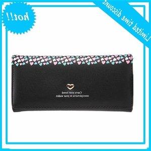 Mujeres Carteras Handbag Hart Imprimir Marca Diseño MoneyBags Girls Long Clutch Tarjetas ID Holder Bolsa Bolsa