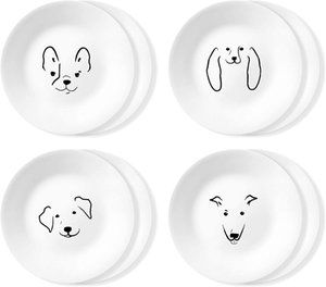 Corelle Chip Resistant 8 Pack Appetizer Plate, 8-Piece, My Best Friend 2020120813