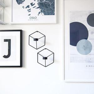 Nordic Minimalist Geometric Candle Holder Wall Hanging Decoration Creative Home Furnishing Geometric Candle Holder DHL Free
