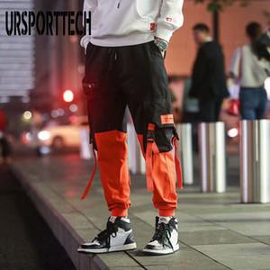 URSPORTTECH 2020 Spring Hip Hop Joggers Men Harem Pants Multi-pocket Ribbons Man Sweatpants Streetwear Casual Mens Pants M-XXL Z1126
