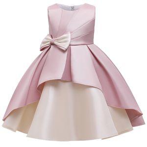 2020 Girls Summer Dress Elegant Princess Wedding Gown Dress Kids Dresses for Girls Evening Birthday Party Children Clothing F1130