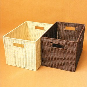 Receive a case large locker without cover prepare basket woven baskets of contracted clothings toy closet sorting box Z1123