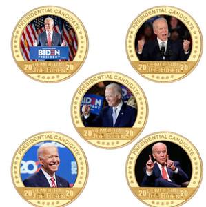 US Presidential Election Joe Biden Placcato Gold Coin Countibles USA Sfida monete Monete di moneta originale Regali per uomo DDA2827