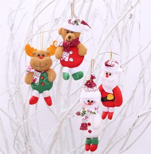 Christmas Tree Ornament Hanging Ornament Santa Claus Snowman Elk Bear Christmas Pendant Decoration Home Xmas Party Decorations DB317