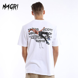 NAGRI Men T-shirt Fan Letter Printing Travis Scotts ASTROWORLD Pocket Graphic Tshirts Letter Printing Streetwear Hip Hop Tee Y1114