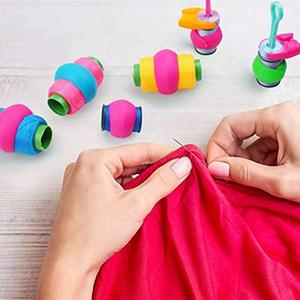 72 Stück Nähen und Stickkolben, Spulenhalter Clips Peeles Thread Spool Huggers Halten Bobbin Thread unter Kontrolle für e