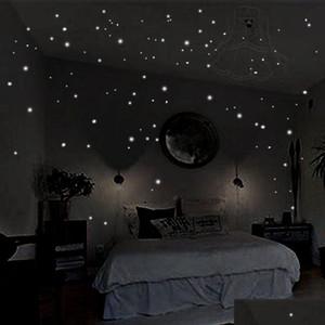 Hot Glow In The Round Dot Dark Star Stickers Luminous Vinyl Wall Stickers Like Star In The Night Roman bbyaAo bdesports