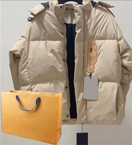 الرجال سترة مقنعين معطف الأزياء سترة واقية السوستة للرجال النساء ربيع الشتاء معطف أسود و begetwo الألوان جاكيتات الاتحاد الأوروبي حجم S-L