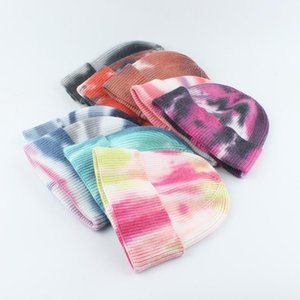 Шапочки зимний галстук вязаные для женщин мужская шерстяная шапка капота мягкие теплые чешуи хип-хоп крышка