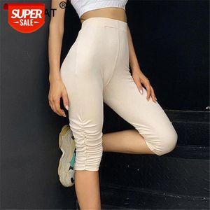 Sexy Skinny Capris Capris Capris Femmes High Taille Stretch genouil Longueur Casual Pantalon Femme 2020 Summer Biker Pants Streetwear # H93e