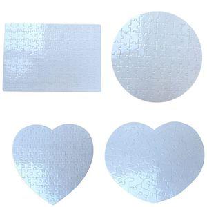 Sublimation Blank Puzzle Heart Round A4 Jigsaw Craft DIY Craft Trial Transfert de chaleur Impression régulière Irregular Shape Puzzles GWA3449