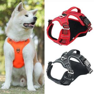 Nuevo arnés de perros a prueba de explosiones ajustables duraderos para perros medianos PET Suministros de entrenamiento para caminar al aire libre