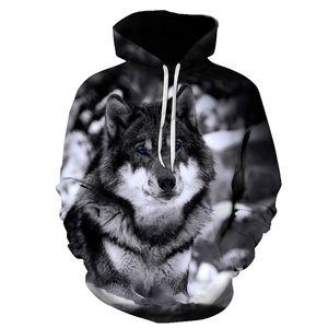 BIAOLUN 2020 New wolf hoodies Men's hoodie autumn Winter hip hop hoody Tops Casual Brand 3D wolf head Hoodie Sweatshirt S-6XL Y1121