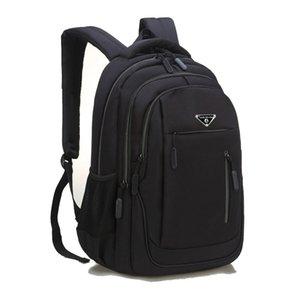 Sutuoop grande capacité Hommes Sac à dos portable 15,6 Sacs d'école multifonctionnels massifs d'Oxford Solid Schoolbag Pack arrière pour homme 201119
