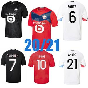 2020 2021 Lille OSC-Fussball Jersey Yilmaz R.LEAO XEKA BAMBA J.DAVID HOME ENTER 20 21 MEN UNDFOOTBALL HEMD