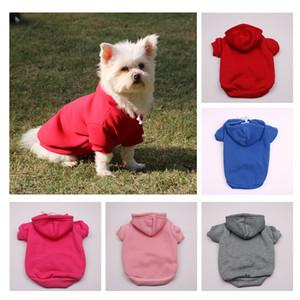 Vêtements d'animaux de compagnie automne hiver chien vêtements multicolores chien chien manteaux avec chapeau chat chat chaud vêtements w-00464