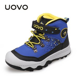 Water Repellent Outdoor Shoes UOVO Fashion New Arrival Kids Boys Girls Sport Shoes Anti-slip Children Casual Sneakers Eur #30-38 Y1117