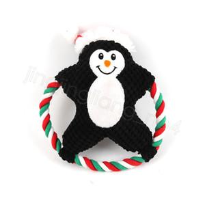 Pet Plüsch Kauspielzeug Gesang Hundekarikatur Baumwolle Seil Weihnachtsspielzeug Weihnachtswelpen Molar Biss Puppe Haustiere Weihnachtsgeschenke CYF4561-3