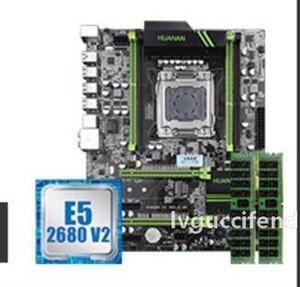 suíte X79 deluxe ATX JOGO Motherboard com e5 2680v2 16g RAM ECC