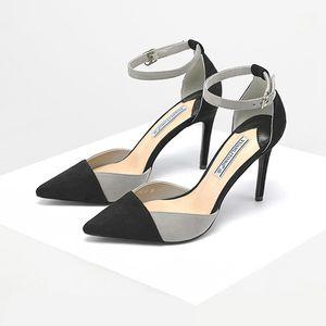 2019 Летние Новые Новые Оправелистые Модные Моды Соответствующие Super High Caels Женские Сандалии Стелето-ремень на лодыжке Шпильки Все-подходящие европейские и американские