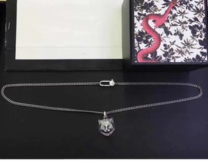 60cm Silver Necklaces New Products 925 Sterling Silver Necklace Tiger Head Hip Hop Necklace Personality Long Necklace Fashion Jewelry