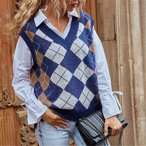 Womens vest women designers clothes 2020 top great quality sleeveless casual pullover lingge knitting sweater Vest winter vests coat