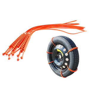 10x Plastic Anti-skid Tyre Chains Winter Driving Mud Snow Traction Tire Chains for Most Tyres
