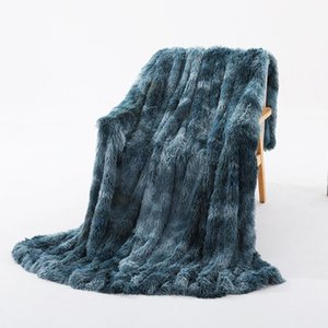 Shaggy Throw Blanket Soft Long Plush Bed Cover Blanket Fluffy Faux Fur Bedspread Blankets for Beds Couch Sofa
