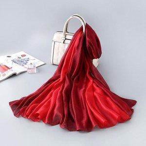 Luxus-100% realer Silk Schal Neue Marke Mulberry Seide Allmähliche Schal Aufmaß Bandana Damen Halstuch Natur Foulard Femme