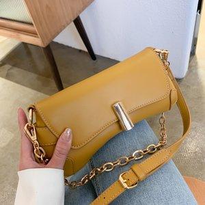 Designer-Elegant Female Chain Tote Bag 2020 Fashion New High-quality PU Leather Women's Designer Handbag Lock Shoulder Messenger Bag