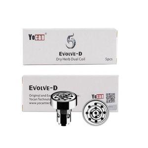 Autentico YOCAN EVOLVE D Coil Head Quartz Dual Coil QDC Bobine di sostituzione per YOCAN EVOLVE KIT NYX Dry Herb Vaporizer 100% Genuine