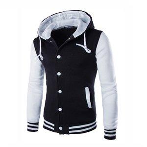 Swagwhat мужские толстовки с капюшоном полосатый пэчворк бейсболка куртка толстовки колледжа варьизм пальто тонкий капюшон мужская одежда X1021