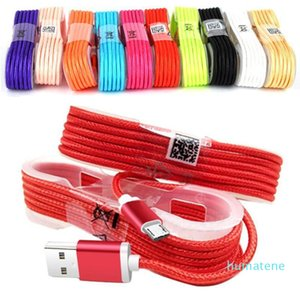 1 .5M Тип C Заряженное заряженное кабель USB-кабеля прочный Micro V8 Кабели данных для Samsung S8 Plus HTC Sony LG с металлической головой