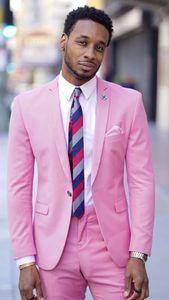 Latest Coat Pant Designs Hot Pink Men Suit Slim Fit 2 Piece Casual Beach Tuxedo Custom Blazer Party Prom Suits Terno Masuclino D