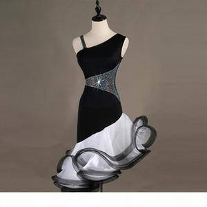 Rhinestones Latin Dancing Dress Women High Qaulity Custom Made Tango Rumba Samba Cha-cha Competition Latin Dance Dresses Girls