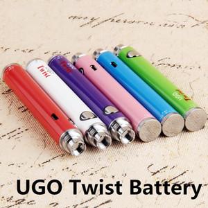 UGO-Twist 510 Vape Pen Battery 900mAh 650mAh Vaporizador Precalentamiento de baterías Batería de voltaje variable 3.3-4.8V con cargo por cable USB