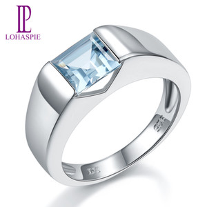 LP Topaz Princess Cut 1.34 Carats Women's Ring Solid Silver 925 Natural Gemstone Ring Fine Jewelry anillos plata 925 para mujer Q1116