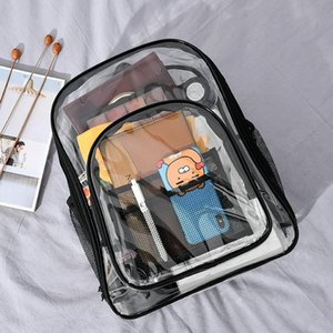 Han edition of PVC transparent bag jelly bag backpack full waterproof backpack large capacity contracted female students