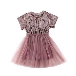 Baby Girls Princess Kids Party Pageant Wedding Velvet Dress Gown Mesh Summer Novelty Sundress