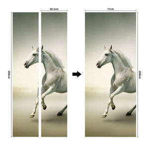 2021 New Door Sticker Self Adhesive Waterproof Removable Wallpaper PVC Wall Decal Posters Home Decor Decorative Stickers