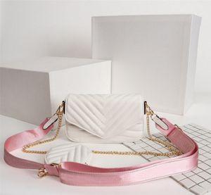 Diseñador de alta calidad caliente bolsos de lujo bolsos de lujo de alta calidad Multi Pochette New Wave Cadena de las señoras Bolsos de hombro Crossbodys Bolsos de noche