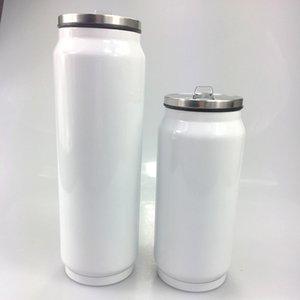 Sublimation 12 Unzen Cola kann Wasserflasche doppelt ummauerte Edelstahl-Tumbler-isoliertes Vakuum mit Deckel-Leerzeichen am besten für DIY