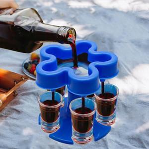 5 Tiro 6 Tiro Gafas Dispensador Cerveza Vino Dispensadores Dispensadores Barra Quick Dispenser Tool Party Webware Sin Copa Seashipping LJJP829