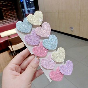 5pairs set Girls Frosted Flower Star Heart Shape Bobby Pins Lovely Candy Colors Patchwork Hairpins Simple Women Hair Clips Free Shipping