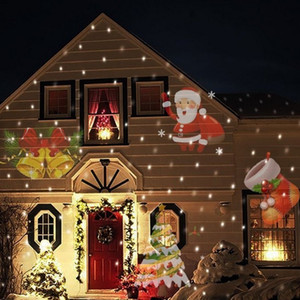 12 Patterns Christmas Laser Snowflake Projector Halloween LED Waterproof Disco Lights Home Garden Star Light Indoor Decoration