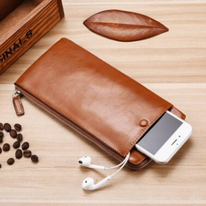 Men Wallet Phone Bag PU Leather Long Wallet Card Holder Vintage Male Coin Purse Men Clutch Bags